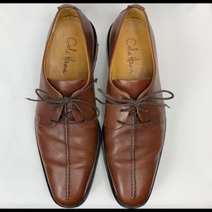 COLE HAAN Beckett Center Seam Cognac Dress Oxfords